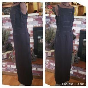 WHBM BLACK FULL LENGTH COCKTAIL DRESS 12